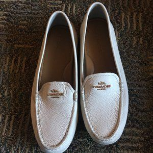 White Coach Loafers